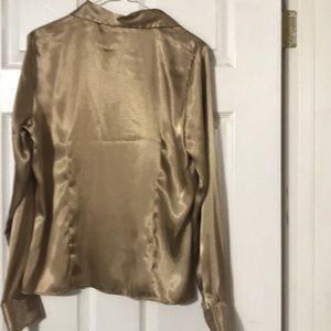 Rafaella Tops - Rafaella satin blouse Sz 10 L/S button New